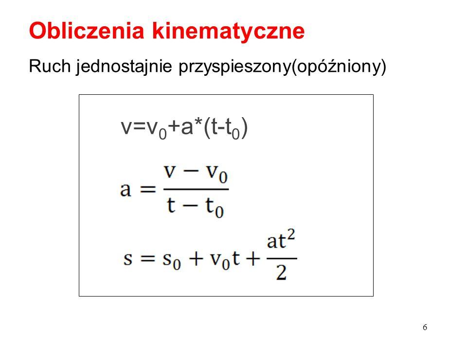 Obliczenia kinematyczne