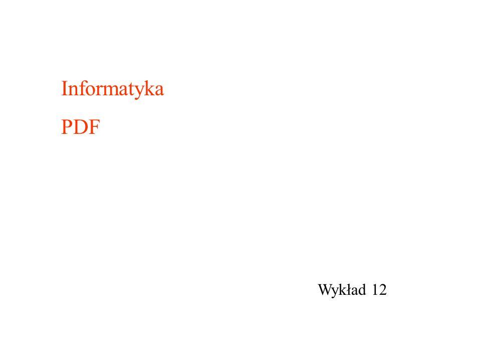 Informatyka PDF Wykład 12