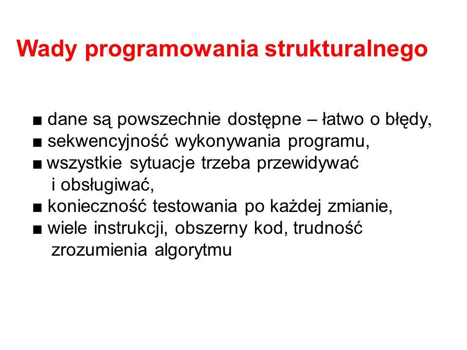 Wady programowania strukturalnego