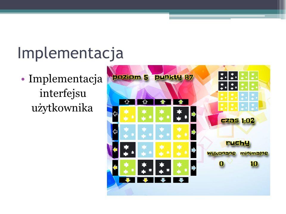 Implementacja Implementacja interfejsu użytkownika