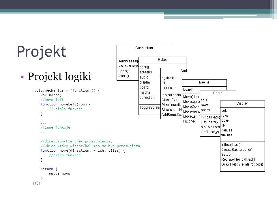 Projekt Projekt logiki rubic.mechanics = (function () { var board;