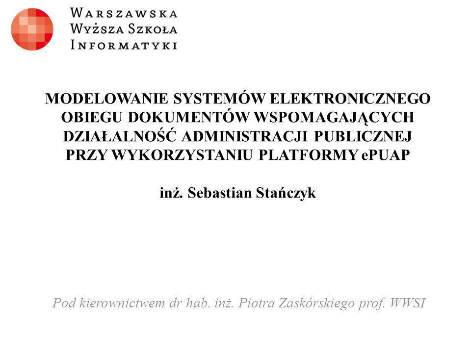 Pod kierownictwem dr hab. inż. Piotra Zaskórskiego prof. WWSI