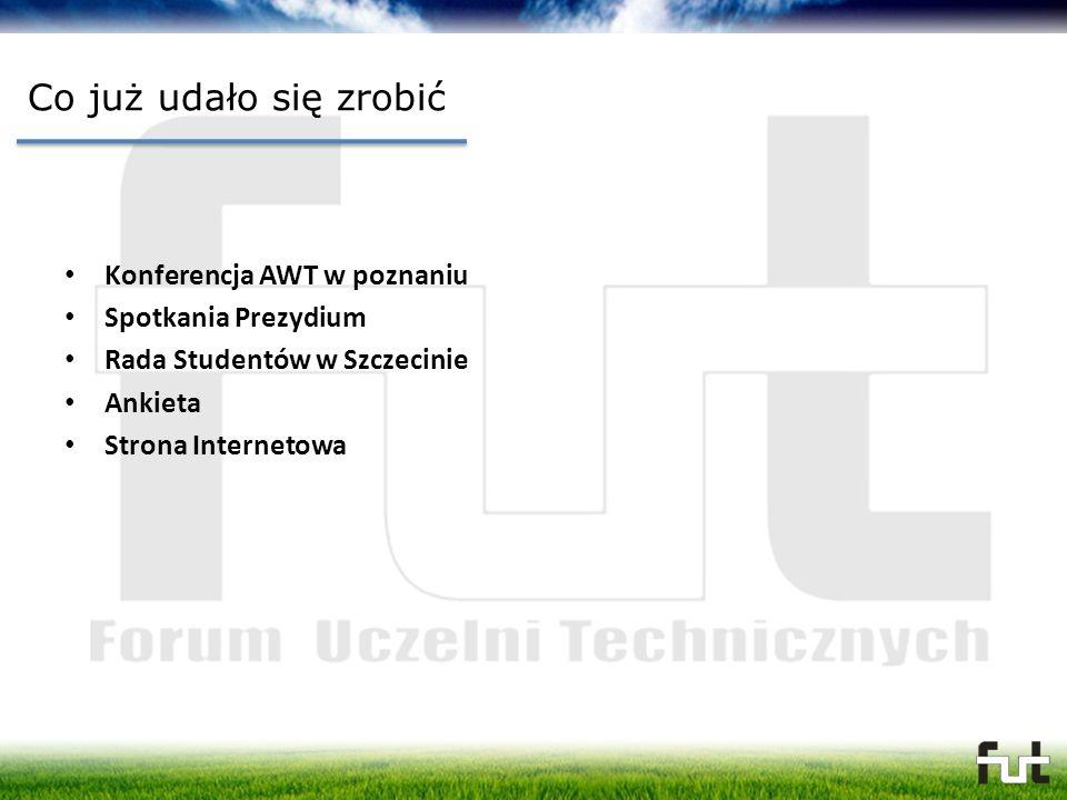 Co już udało się zrobić Konferencja AWT w poznaniu Spotkania Prezydium