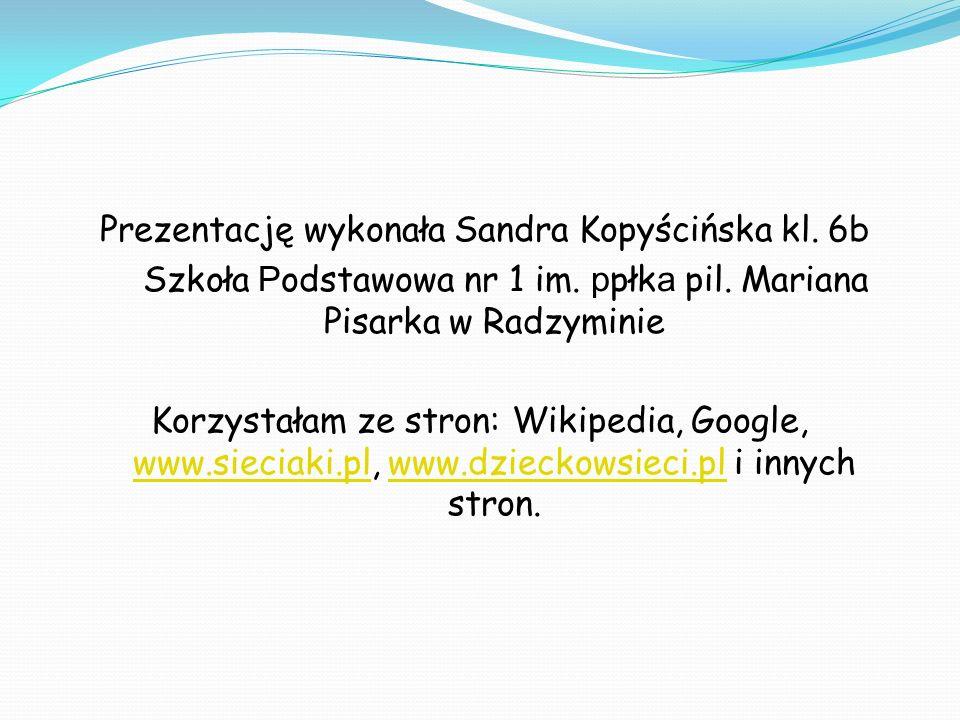 Prezentację wykonała Sandra Kopyścińska kl