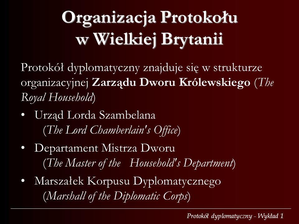 Organizacja Protokołu w Wielkiej Brytanii