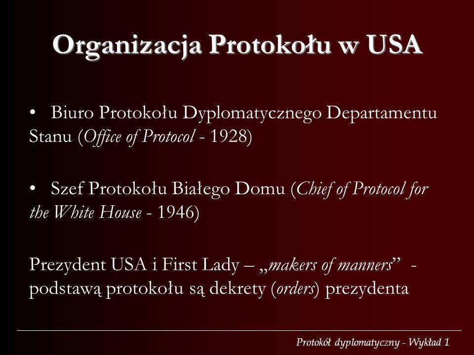 Organizacja Protokołu w USA