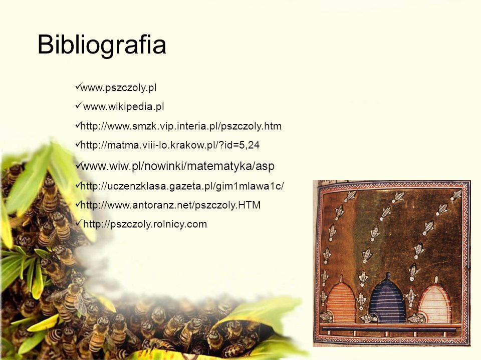 Bibliografia www.wiw.pl/nowinki/matematyka/asp www.pszczoly.pl