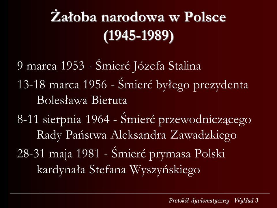 Żałoba narodowa w Polsce (1945-1989)