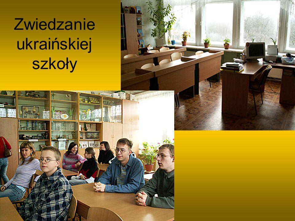 Zwiedzanie ukraińskiej szkoły