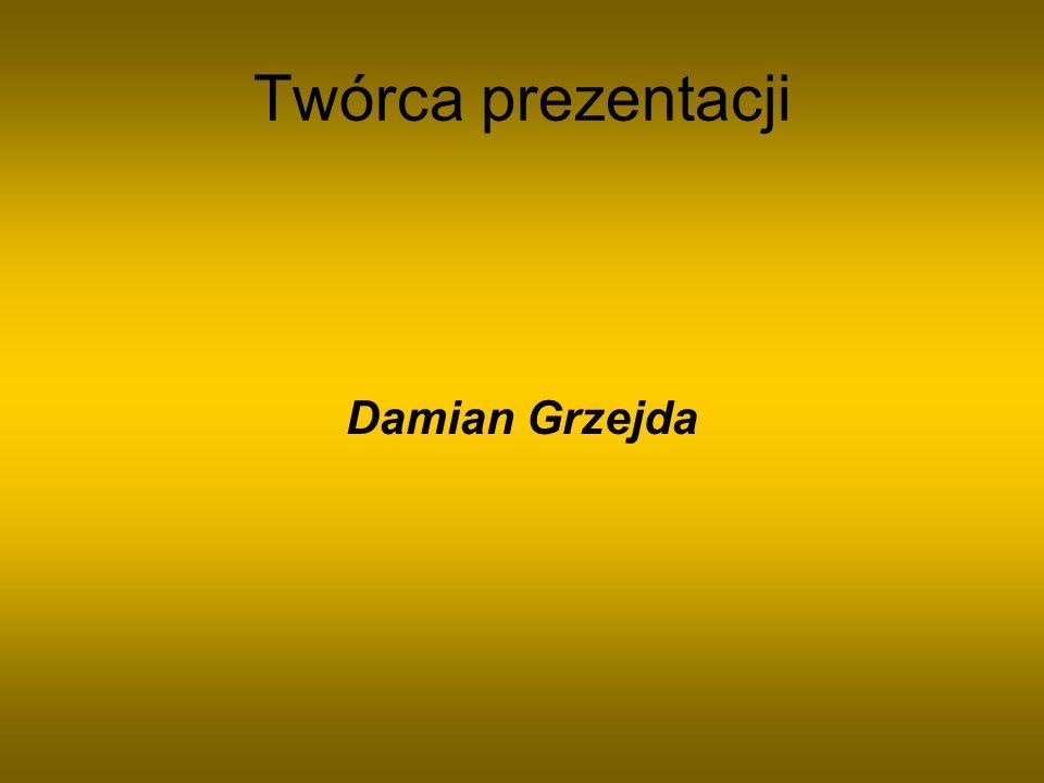 Twórca prezentacji Damian Grzejda
