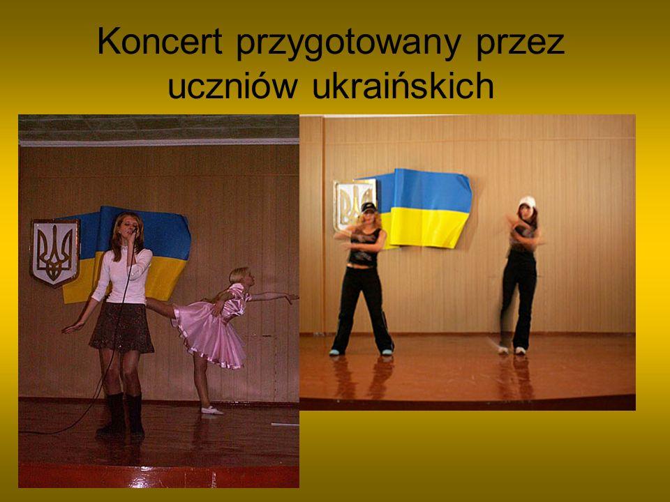 Koncert przygotowany przez uczniów ukraińskich
