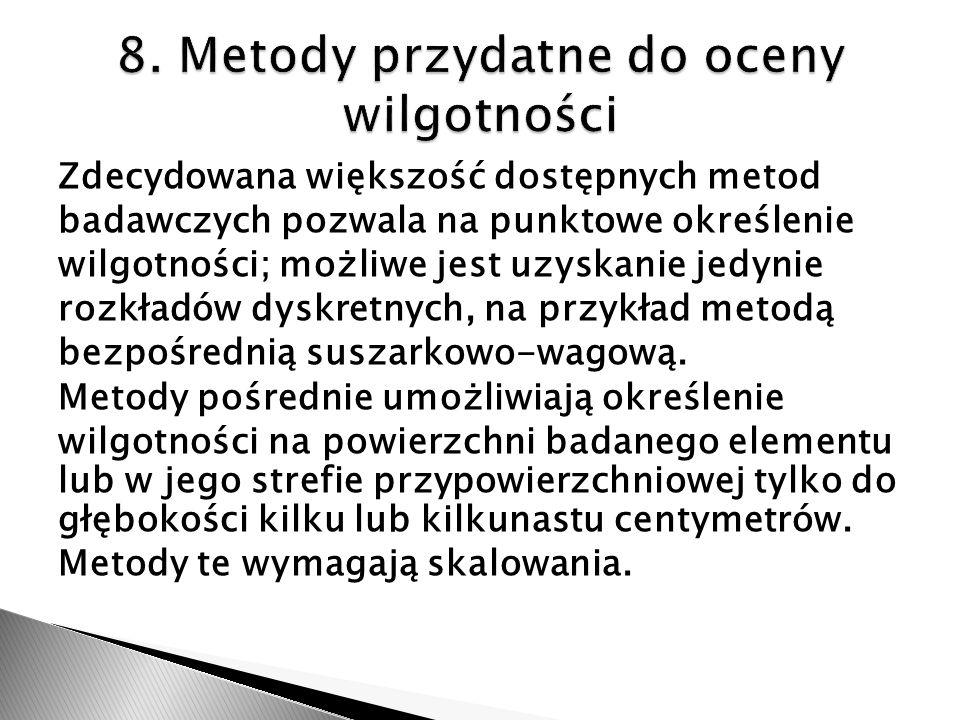 8. Metody przydatne do oceny wilgotności