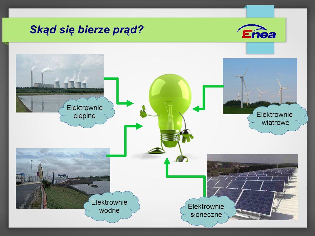 Skąd się bierze prąd Elektrownie cieplne Elektrownie wiatrowe