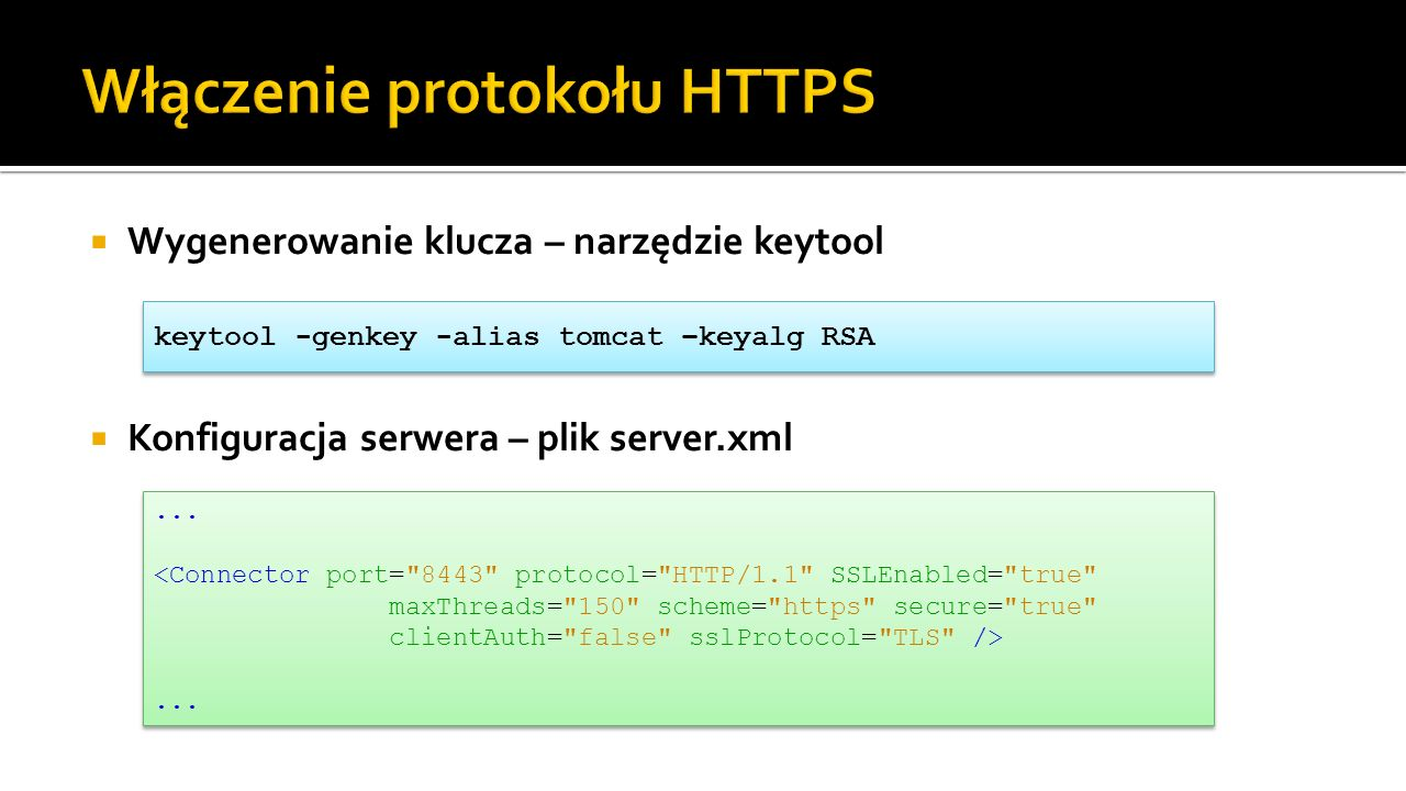 Włączenie protokołu HTTPS
