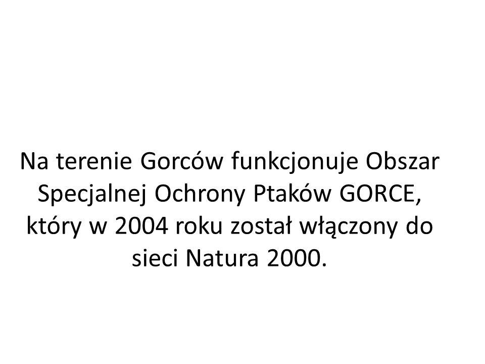 Na terenie Gorców funkcjonuje Obszar Specjalnej Ochrony Ptaków GORCE, który w 2004 roku został włączony do sieci Natura 2000.