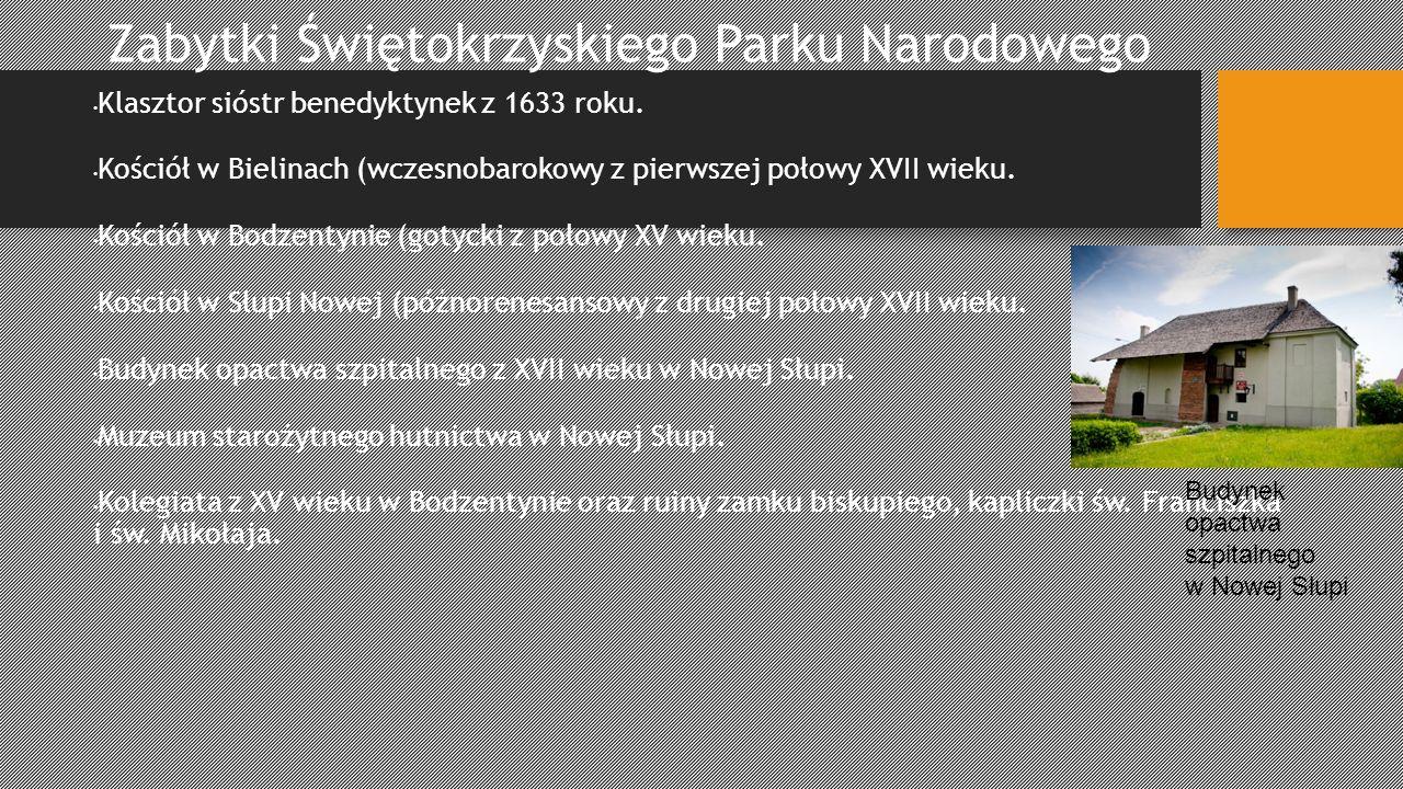 Zabytki Świętokrzyskiego Parku Narodowego