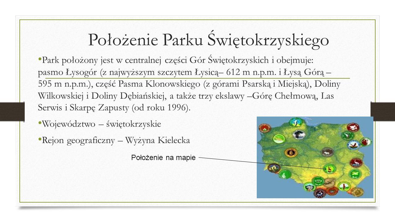 Położenie Parku Świętokrzyskiego