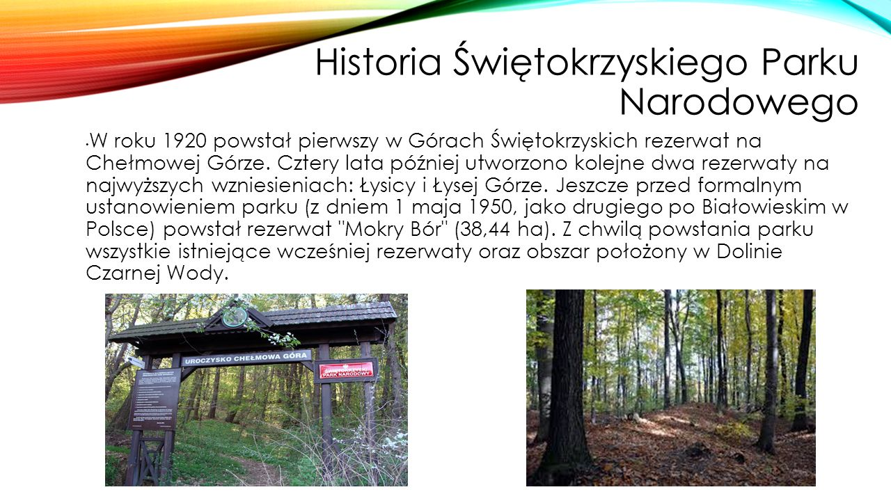 Historia Świętokrzyskiego Parku Narodowego