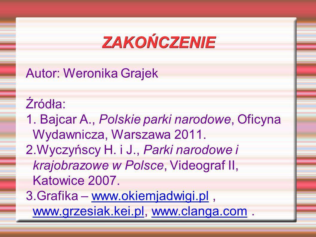 ZAKOŃCZENIE Autor: Weronika Grajek Źródła: