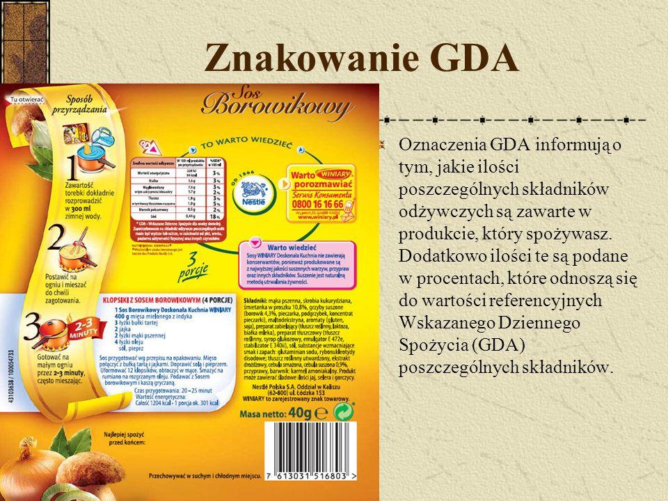 Znakowanie GDA
