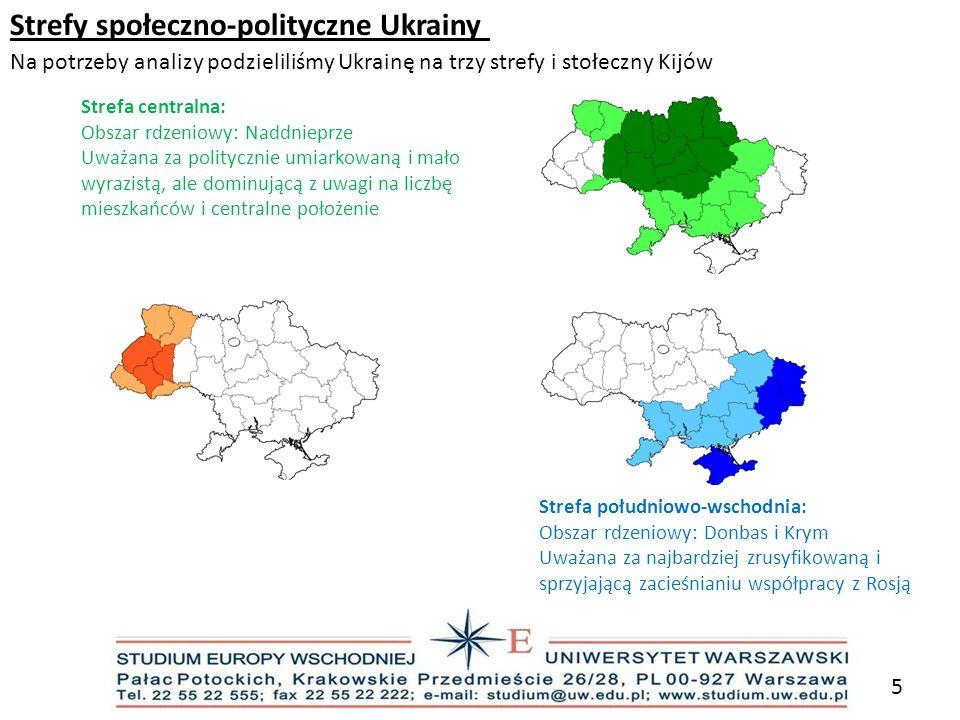 Strefy społeczno-polityczne Ukrainy