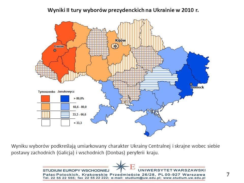 Wyniki II tury wyborów prezydenckich na Ukrainie w 2010 r.