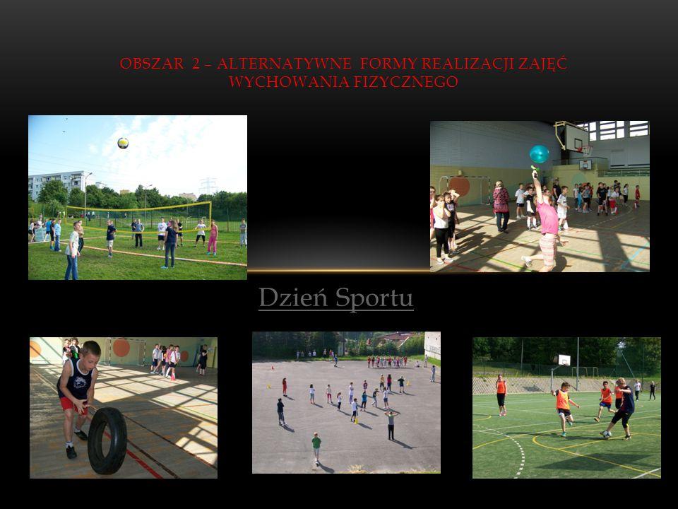 Obszar 2 – alternatywne formy realizacji zajęć wychowania fizycznego