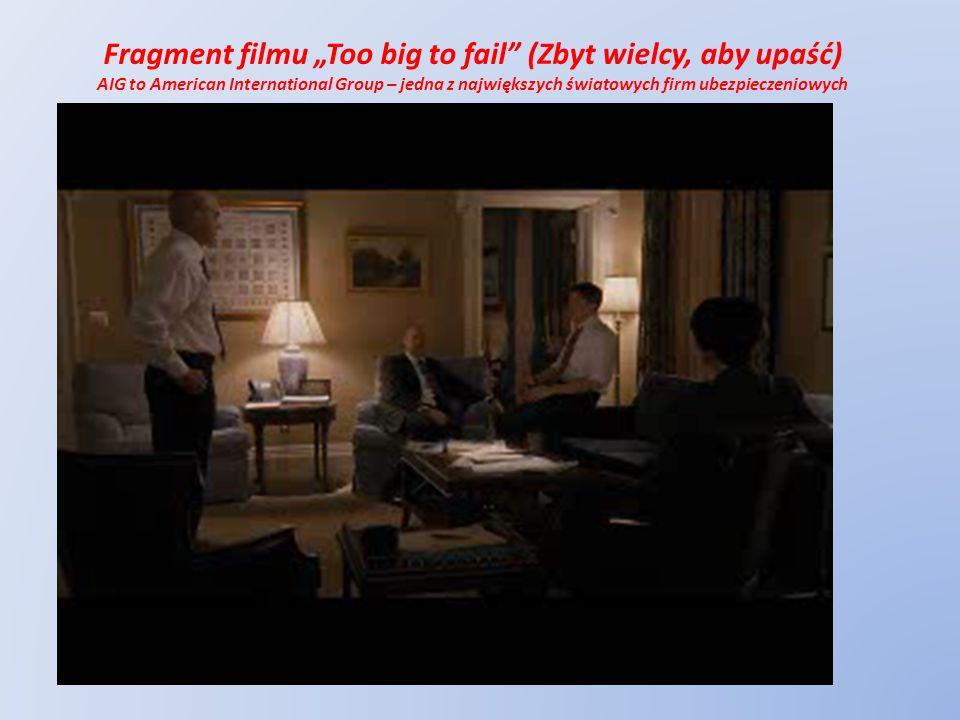 """Fragment filmu """"Too big to fail (Zbyt wielcy, aby upaść)"""