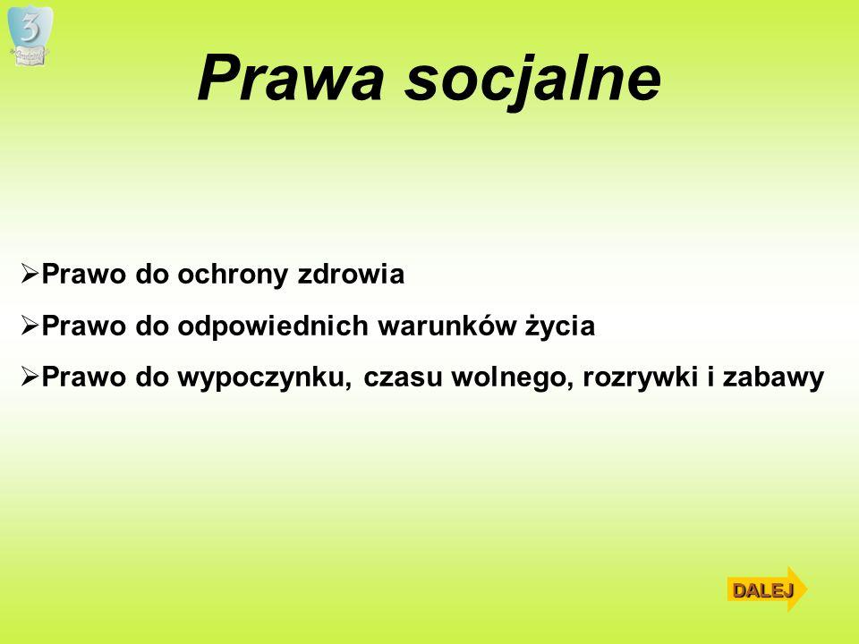 Prawa socjalne Prawo do ochrony zdrowia