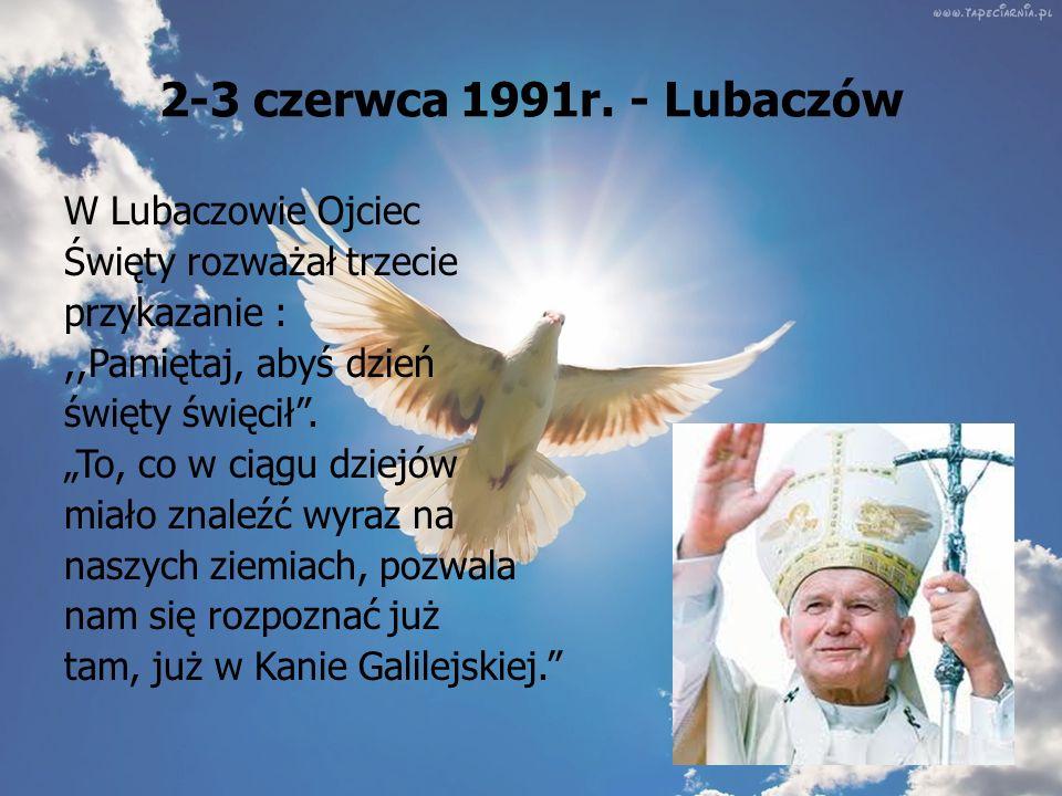 2-3 czerwca 1991r. - Lubaczów