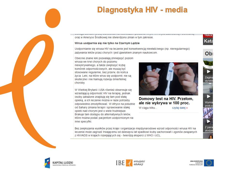 Diagnostyka HIV - media