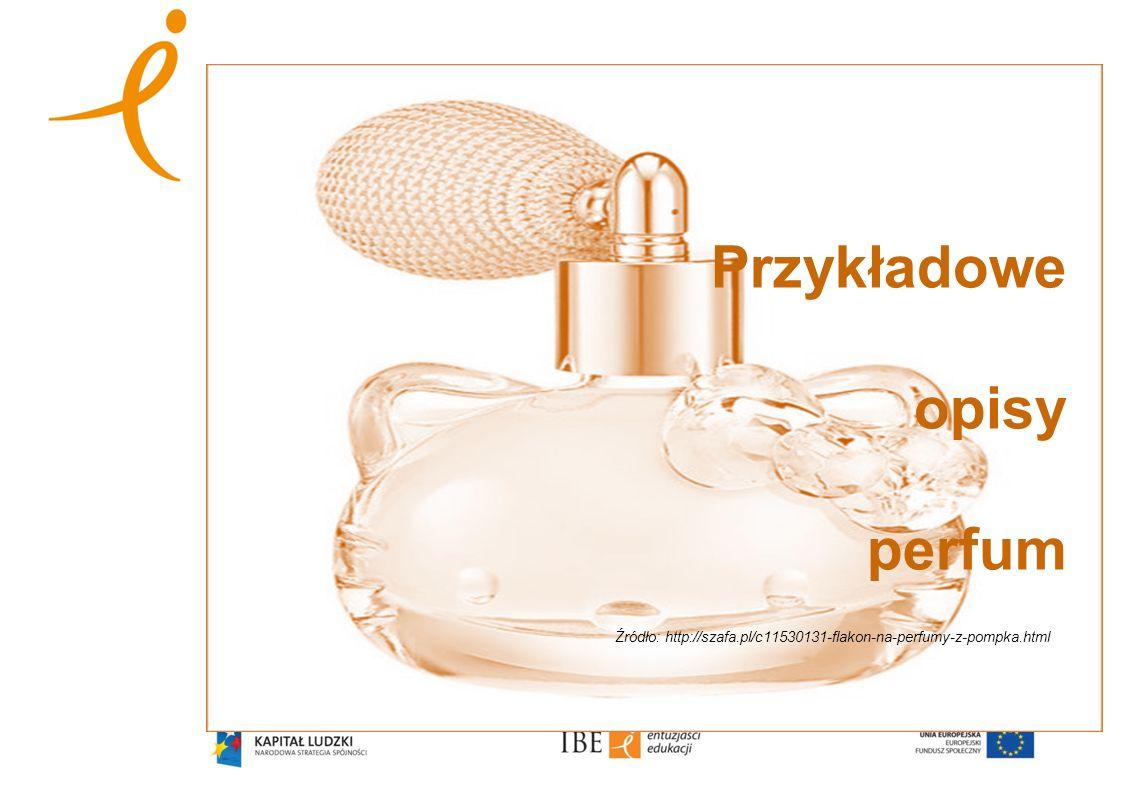 Przykładowe opisy perfum