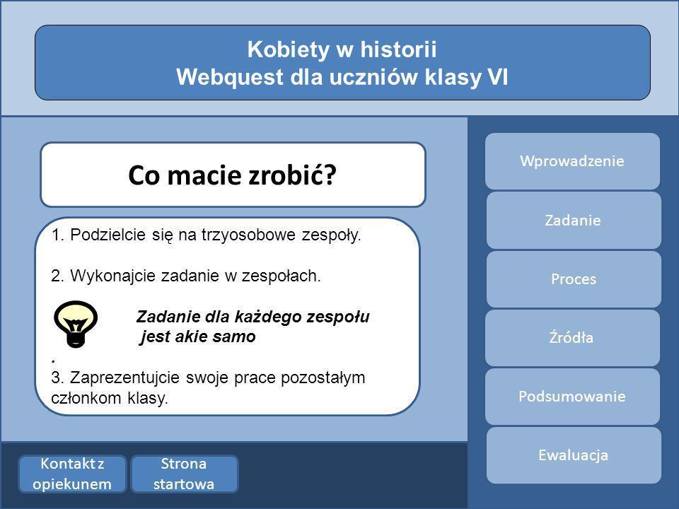 Webquest dla uczniów klasy VI