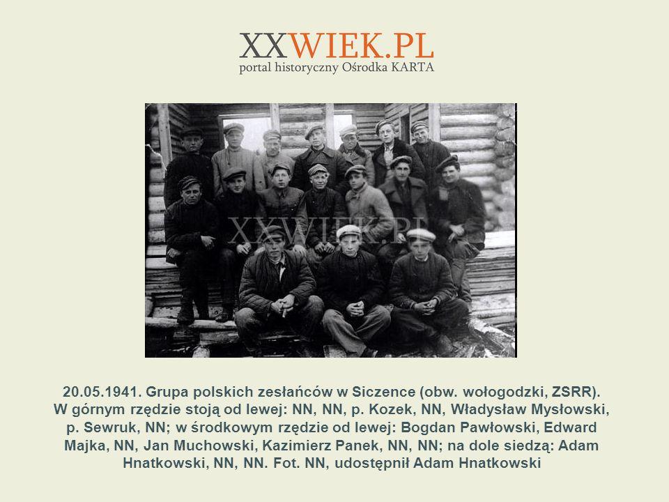 20. 05. 1941. Grupa polskich zesłańców w Siczence (obw