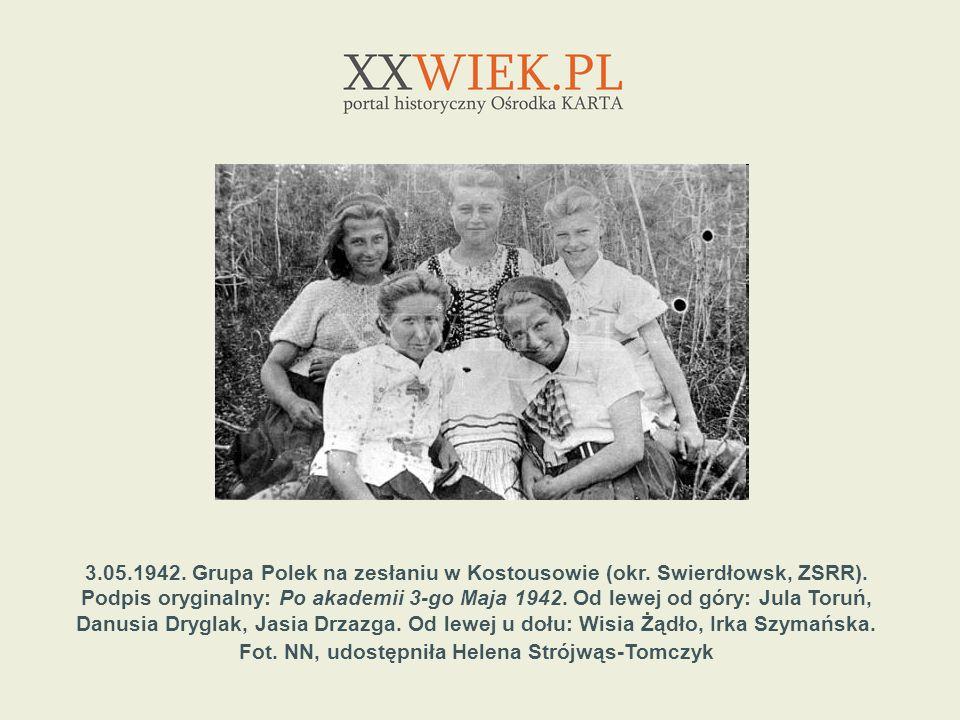 3. 05. 1942. Grupa Polek na zesłaniu w Kostousowie (okr