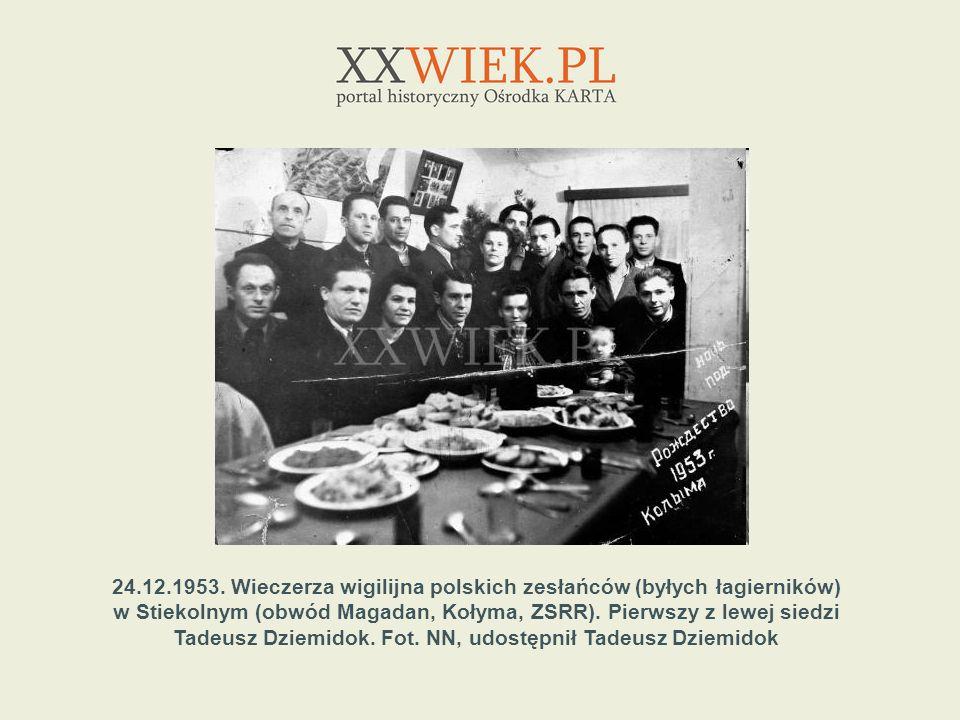 24.12.1953. Wieczerza wigilijna polskich zesłańców (byłych łagierników)
