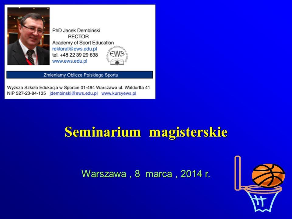 Seminarium magisterskie