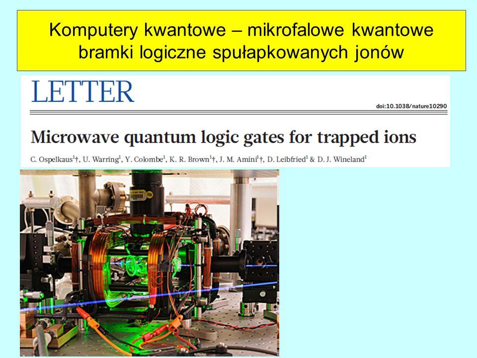 Komputery kwantowe – mikrofalowe kwantowe bramki logiczne spułapkowanych jonów