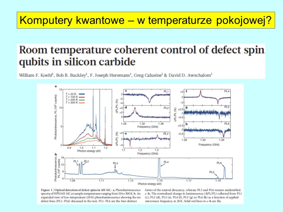 Komputery kwantowe – w temperaturze pokojowej
