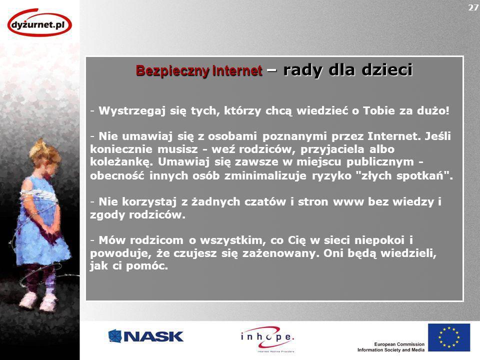 Bezpieczny Internet – rady dla dzieci