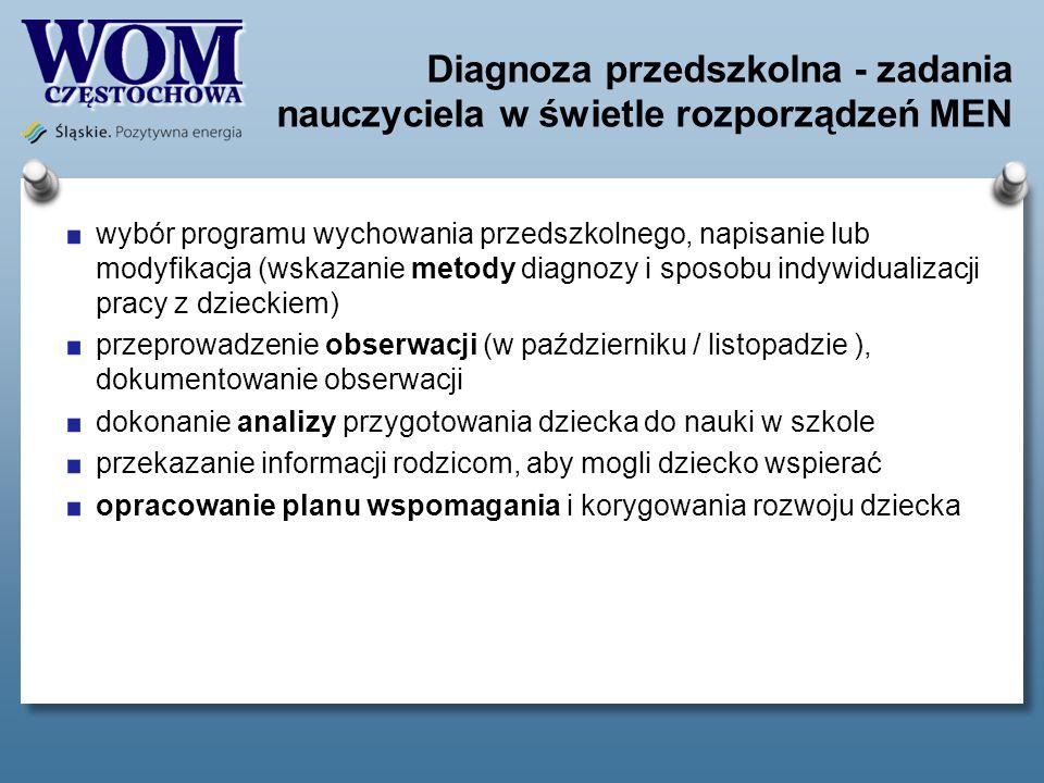 Diagnoza przedszkolna - zadania nauczyciela w świetle rozporządzeń MEN