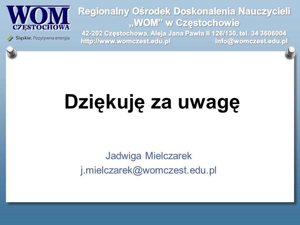 Jadwiga Mielczarek j.mielczarek@womczest.edu.pl