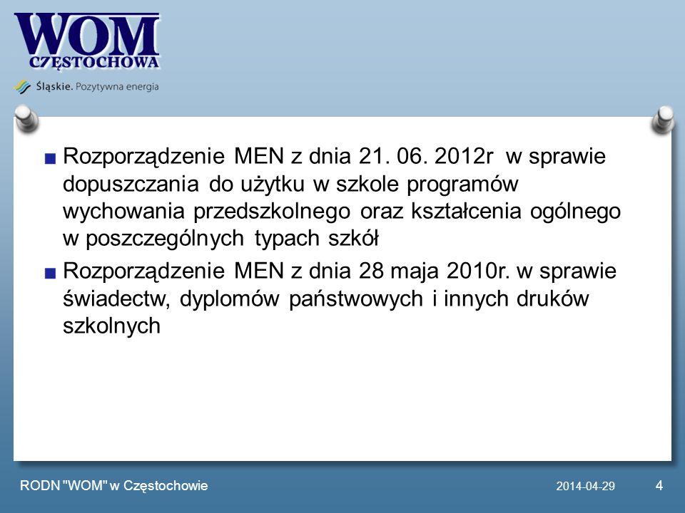 Rozporządzenie MEN z dnia 21. 06