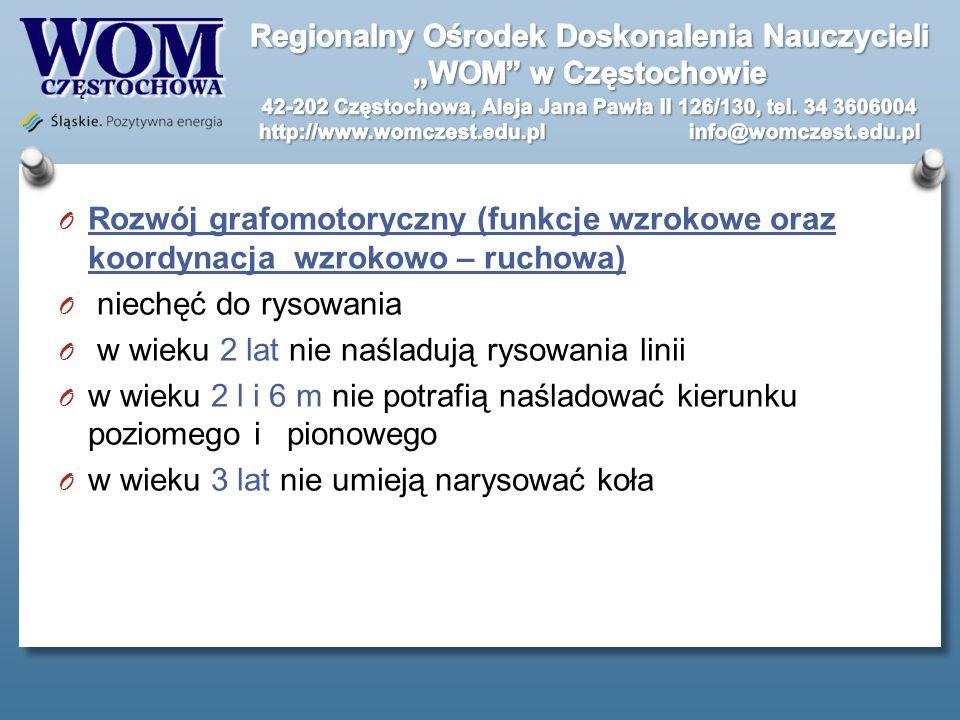 Rozwój grafomotoryczny (funkcje wzrokowe oraz koordynacja wzrokowo – ruchowa)