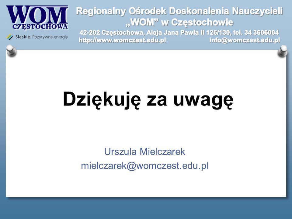 Urszula Mielczarek mielczarek@womczest.edu.pl