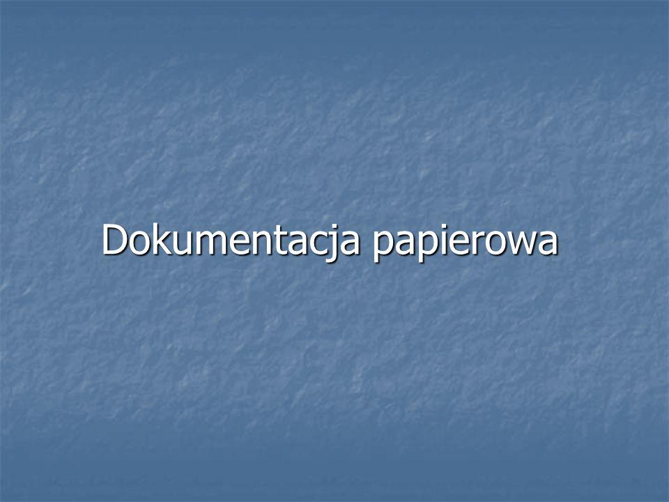 Dokumentacja papierowa