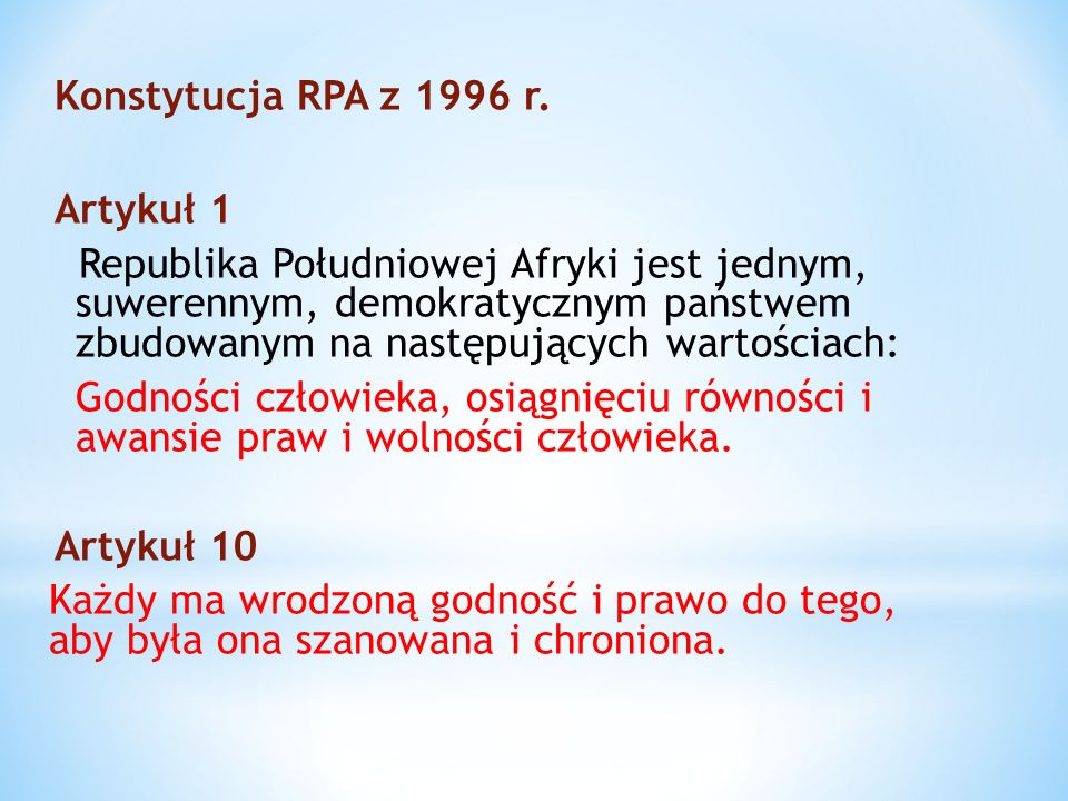 Konstytucja RPA z 1996 r.