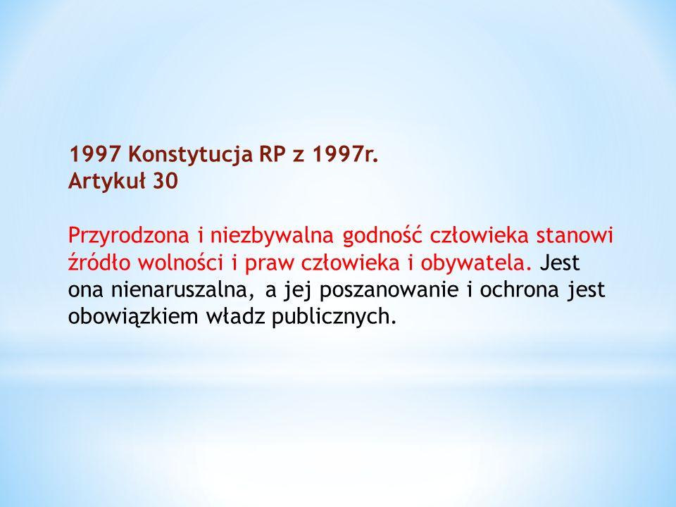 1997 Konstytucja RP z 1997r. Artykuł 30.