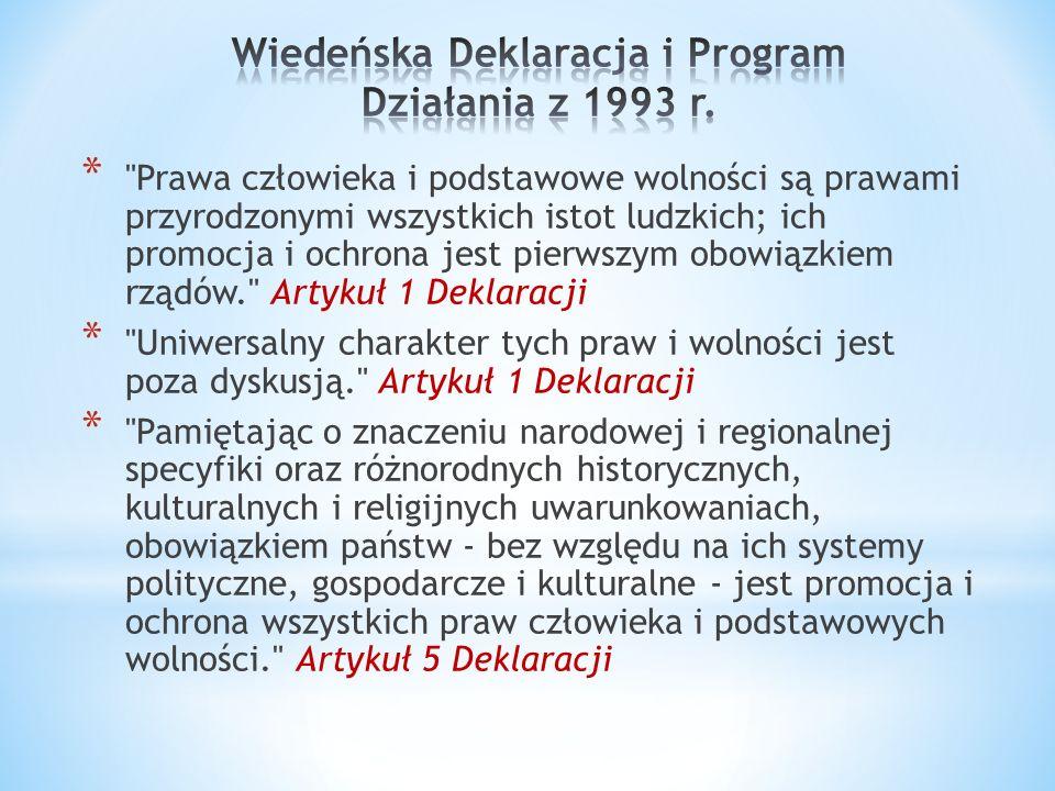Wiedeńska Deklaracja i Program Działania z 1993 r.