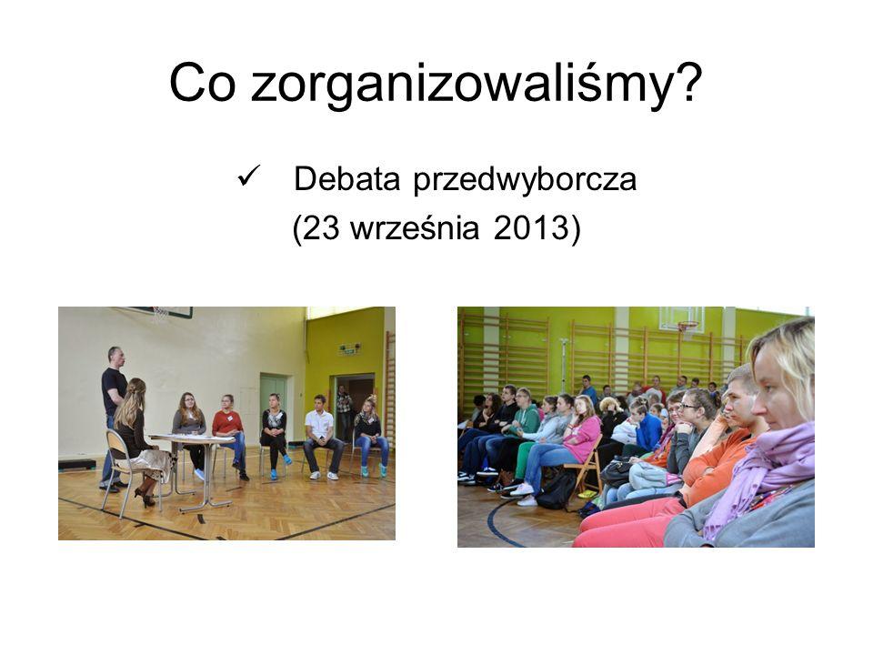 Co zorganizowaliśmy Debata przedwyborcza (23 września 2013)